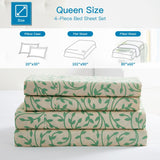 """Green Vines"" Amsterdam Exclusive Bed Sheets - Spirit Linen"