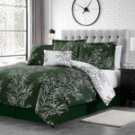 Hunter Foliage Reversible Comforter Set + Two Free Sham Pillows - Spirit Linen