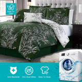 """Luxury Hunter"" 6 Piece Foliage Reversible Comforter Set - Spirit Linen"