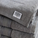 Silver Filigree 4 Piece Cotton Bath Towels Set - Spirit Linen