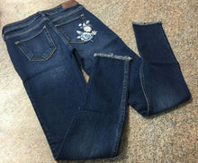 "Load image into Gallery viewer, Hollister low rise super skinny worn look jeans sz 00 (23""waist 30L) Juniors EUC"