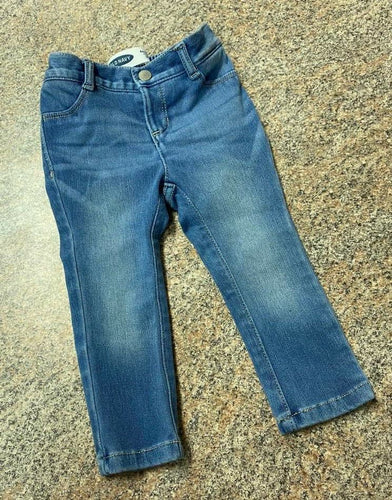 Old Navy light wash ballerina jeggings jeans sz 18-24 months EUC