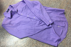 Stafford purple button up shirt sz 14-14.5 EUC
