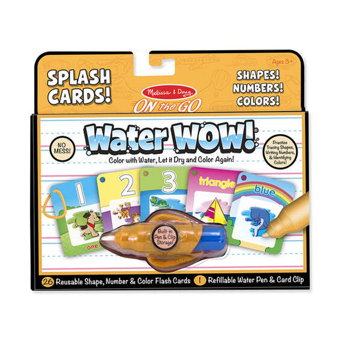 Melissa & Doug Water Wow Splash Cards ~ Shapes  Numbers Colors Animals NEW
