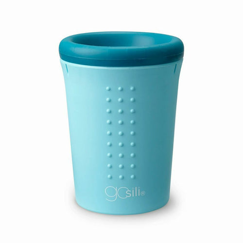 GoSili Oh! No Spill Sippy Cup!  360 Sip from any side! NEW ~ BLUE