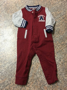 Carter's maroon navy university awesome onepiece sz 6 months EUC