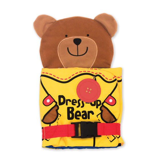 Melissa & Doug New ~ Dress Up Bear Soft Book