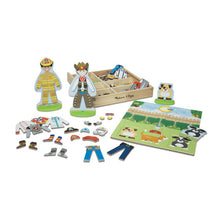 Load image into Gallery viewer, Melissa & Doug Occupations Magnetic Pretend Play Set