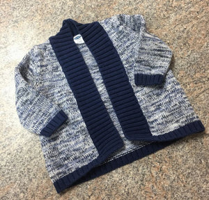 Old Navy navy knit sweater sz 3-6 months EUC