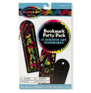 Melissa & Doug Scratch Art® Party Pack - Bookmarks New