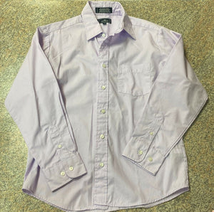 Dockers purple button up shirt sz 14 EUC