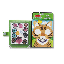 Load image into Gallery viewer, Melissa & Doug Make a Face Reusable Sticker Pack ~ Pets NEW