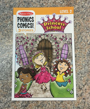 Load image into Gallery viewer, Melissa & Doug Phonics Comics Princess School Level 2 NEW