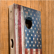 American Flag Cloth Design Cornhole Boards with Bags