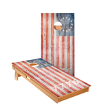 1776 American Flag Regulation Cornhole Boards Bag Toss Game Set