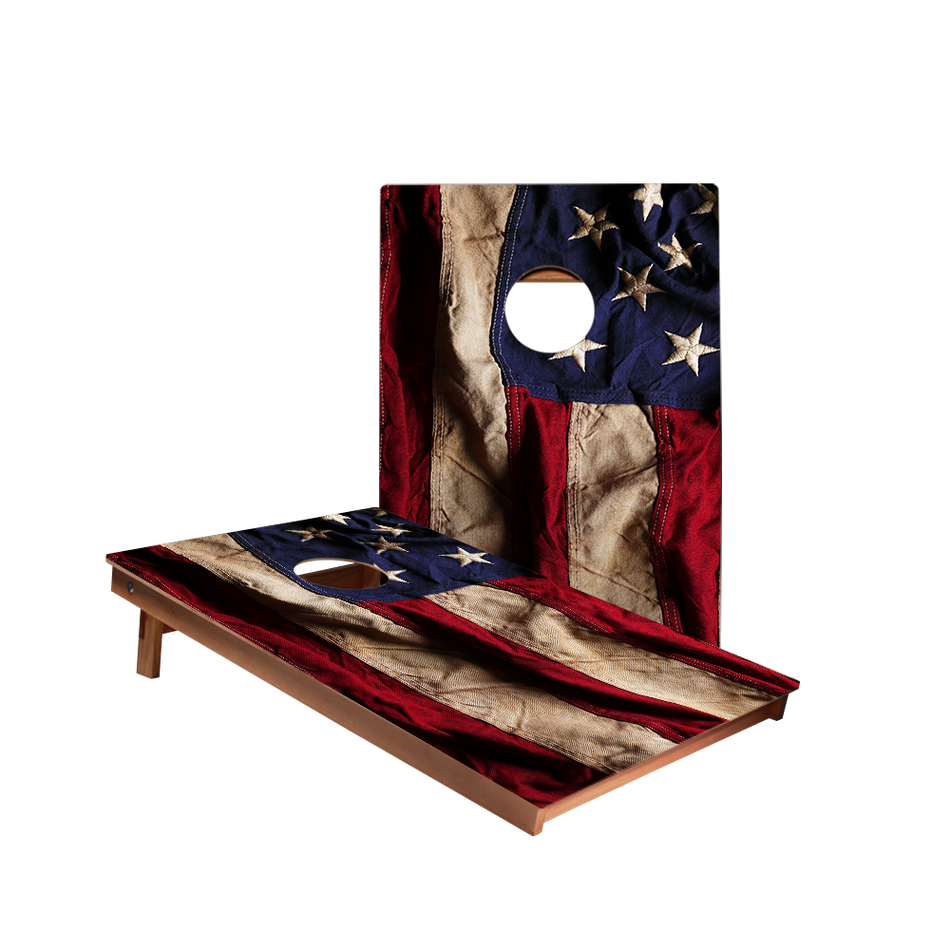 Dale American Flag Cloth Design Recreation Cornhole Boards