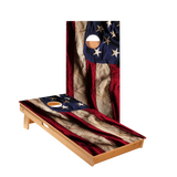American Flag Cloth Design Regulation Cornhole Boards Bag Toss Game Set