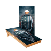 USA Skull Regulation Cornhole Boards Bag Toss Game Set
