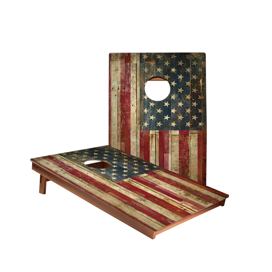 Dale American Flag Recreation Cornhole Boards