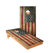 Star Rustic American Flag Professional Cornhole Boards