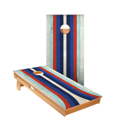 Star American Moto Curved Stripes Professional Cornhole Boards