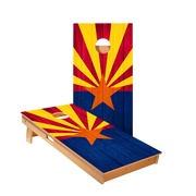 Arizona Flag Regulation Cornhole Boards Bag Toss Game Set