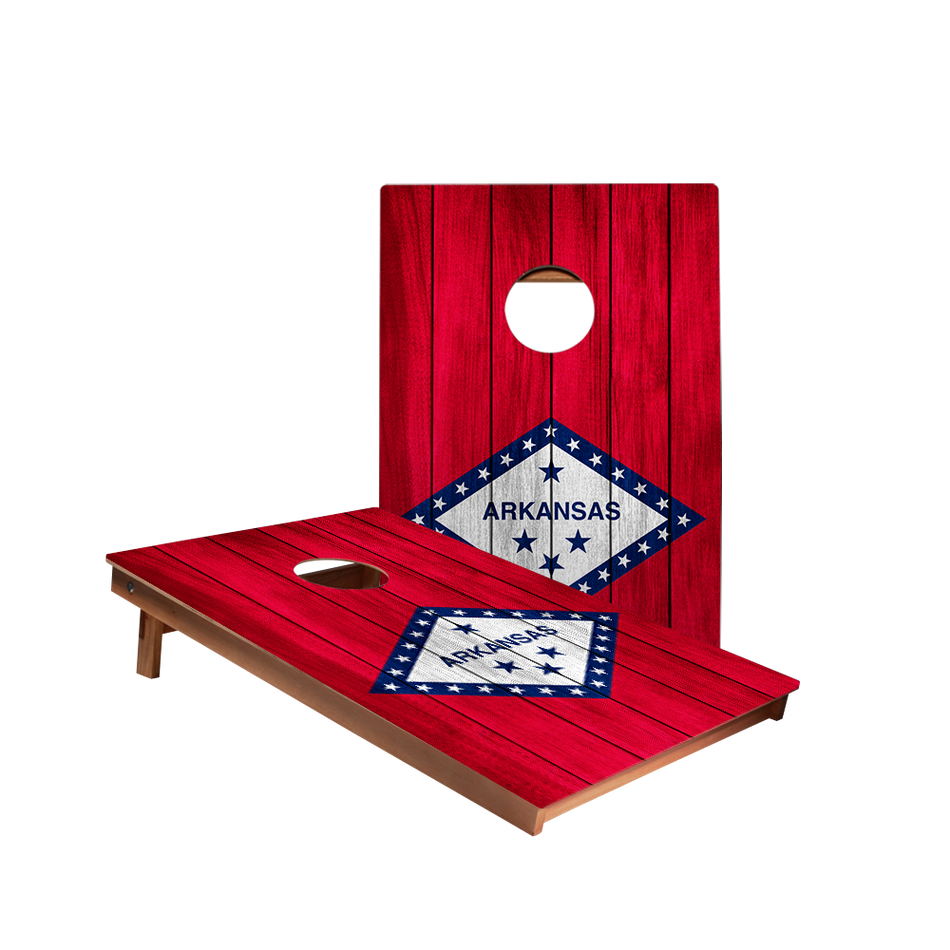 Dale Arkansas Flag Recreation Cornhole Boards
