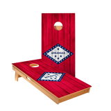 Arkansas Flag Regulation Cornhole Boards Bag Toss Game Set