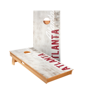 Atlanta Vintage Gameday Regulation Cornhole Boards Bag Toss Game Set