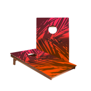 Dale Beach Gradient Orange Recreation Cornhole Boards
