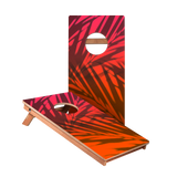 Beach Gradient Orange Junior Cornhole Boards bag toss game set