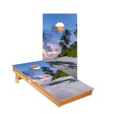 Beach Scene Regulation Cornhole Boards Bag Toss Game Set