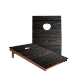 Dale Black Stained Large Panel Wood Recreation Cornhole Boards