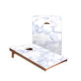 Dale Blue and White Marble Recreation Cornhole Boards