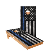 Star Thin Blue Line Flag Professional Cornhole Boards