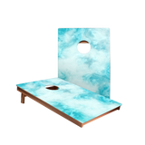 Dale Blue Marble Recreation Cornhole Boards
