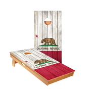California Bear Flag Regulation Cornhole Boards Bag Toss Game Set