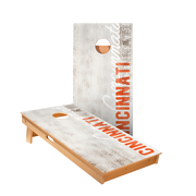 Cincinnati Vintage Gameday Regulation Cornhole Boards Bag Toss Game Set