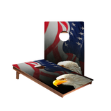Dale American Flag With Eagle Recreation Cornhole Boards