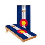 Colorado Flag Regulation Cornhole Boards Bag Toss Game Set