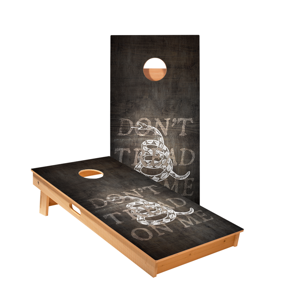 Star Don't Tread On Me Black Professional Cornhole Boards