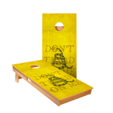 Don't Tread On Me Yellow Regulation Cornhole Boards Bag Toss Game Set