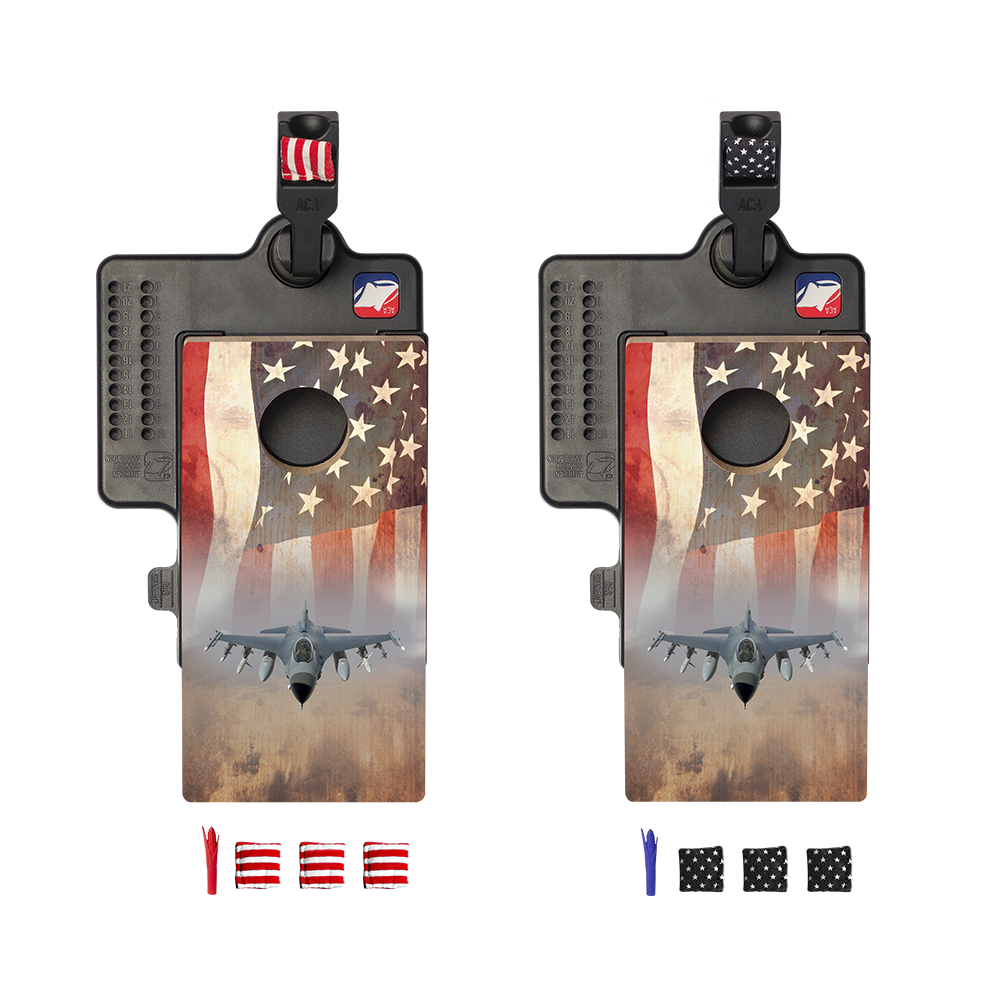 American Flag with Jet Double Chuck