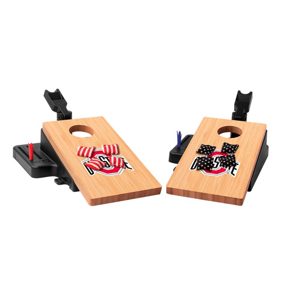 Double Chuck Ohio State University Mini Cornhole Tabletop Game