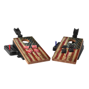 American Flag Double Chuck Mini Cornhole Game