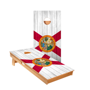 Florida Flag Regulation Cornhole Boards Bag Toss Game Set