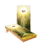 Forest Sunset Regulation Cornhole Boards Bag Toss Game Set