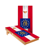 Star Georgia Flag Professional Cornhole Boards