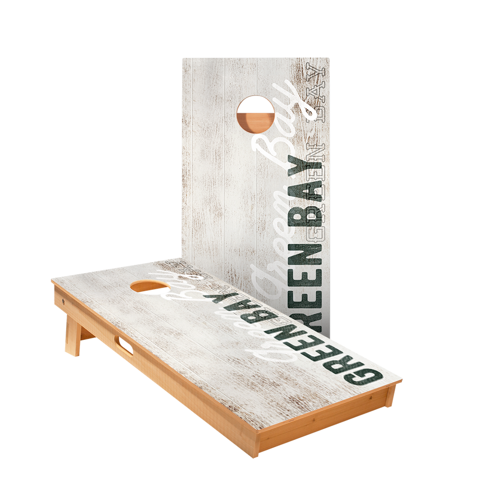 Star Green Bay Vintage Gameday Professional Cornhole Boards