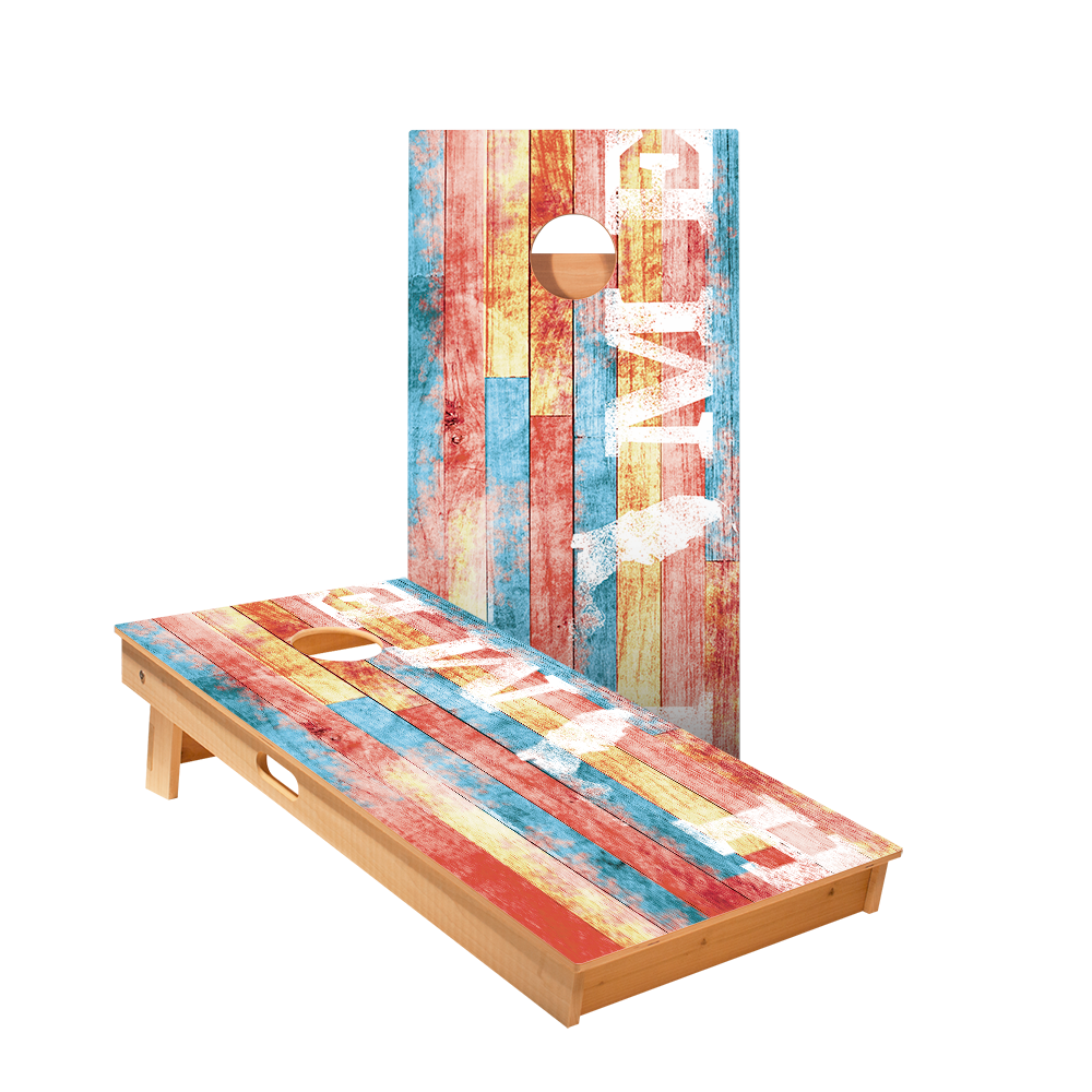 Star Home State Painted Wood Florida Professional Cornhole Boards
